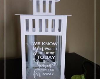 Wedding Lantern IN MEMORY