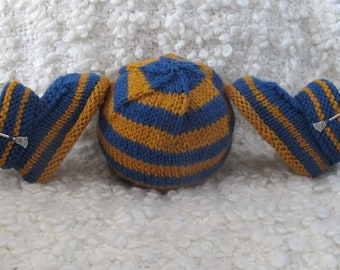 Hand Knitted Ravenclaw Harry Potter Baby Hat & Booties Set 0-3 months