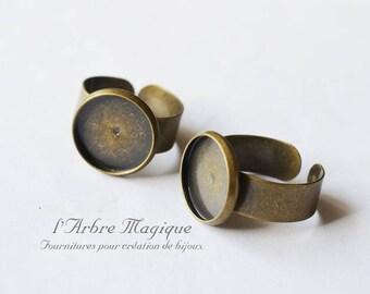 Bronze 1 to 14 mm x 1 bezel ring