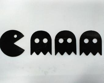 Set of 4 Pacman magnets