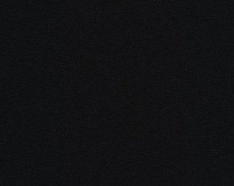 Kona Cotton Solid - Black - 1 YARD - Robert Kaufman K001-1019