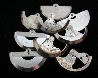 Destash Steampunk Watch Clock Parts Backs Movements Assemblage Industrial Art Grab Bag RJ 75