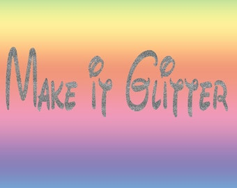 Add Glitter to Your Shirt - This is an Add On Item - Does not Apply to All Shirts in my Shop - Please Check Before Purchasing