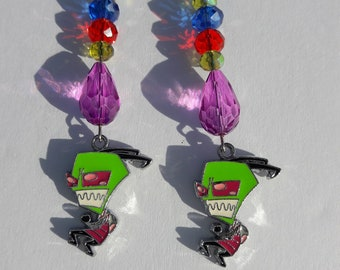 Invader Zim Dangle Earrings