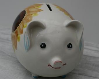 Large Pig Money Box, Piggy Bank, Money Bank, Kitsch, Retro