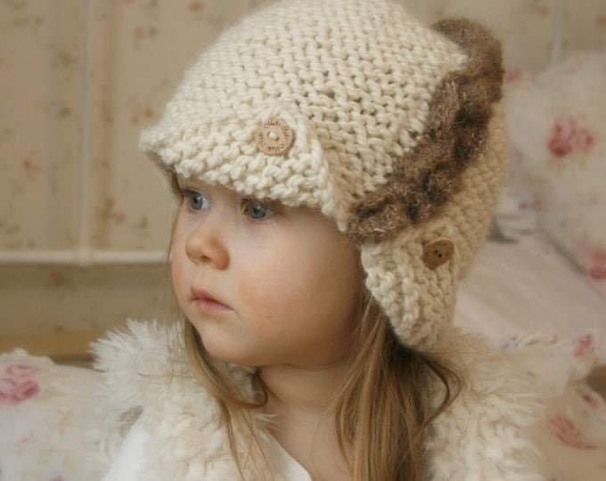 KNITTING PATTERN Downton Abbey cloche Andra with a ruffles and buttons (baby, toddler, child/ adult woman sizes)