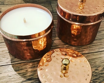 Copper Tin | Soy Candle | Wedding Favours | Handmade| Home Decor | Luxury Living |