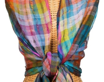 29 Colores Sheer Wool Hand loomed Scarf