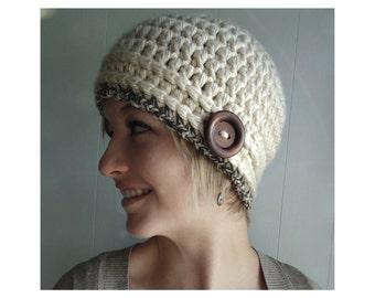 Crochet PATTERN - Chloe Cloche Hat  (sizes Toddler - Adult)
