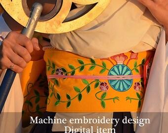 Yuna Obi Final Fantasy X Machine Embroidery Design