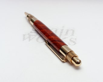Stratus Style Wood Ballpoint Pen - Cocobolo with 24kt Gold Accents (Gift Ready)