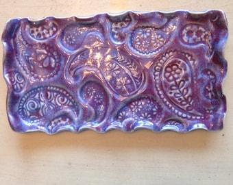 Purple Paisley Tray