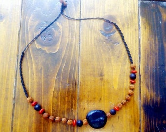 Ethnic Seed necklace, beaded necklace,natural jewelry,tribal necklace,hippie necklace,boho necklace,men necklace,rudraksha seed necklace