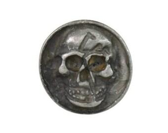 Coin Skull Rivets Matt Silver Decorative Rivets 16 mm 10 pcs.