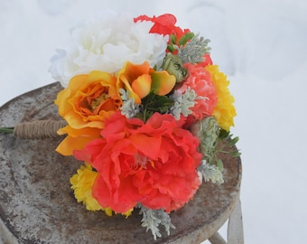 Bright citrus colored bouquet for prom or wedding!