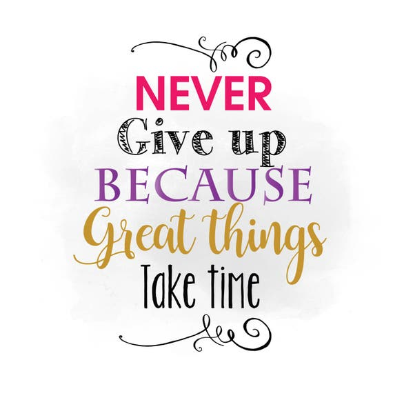 never give up svg clipart inspirational quote word art rh etsy com inspirational clipart free inspirational clipart for teachers