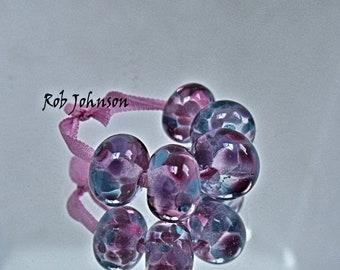 Bouquet, Artisan Lampwork Glass Beads, SRA, UK