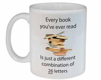 Books you have Read- funny coffee or tea mug