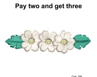Embroidery design floral decoration