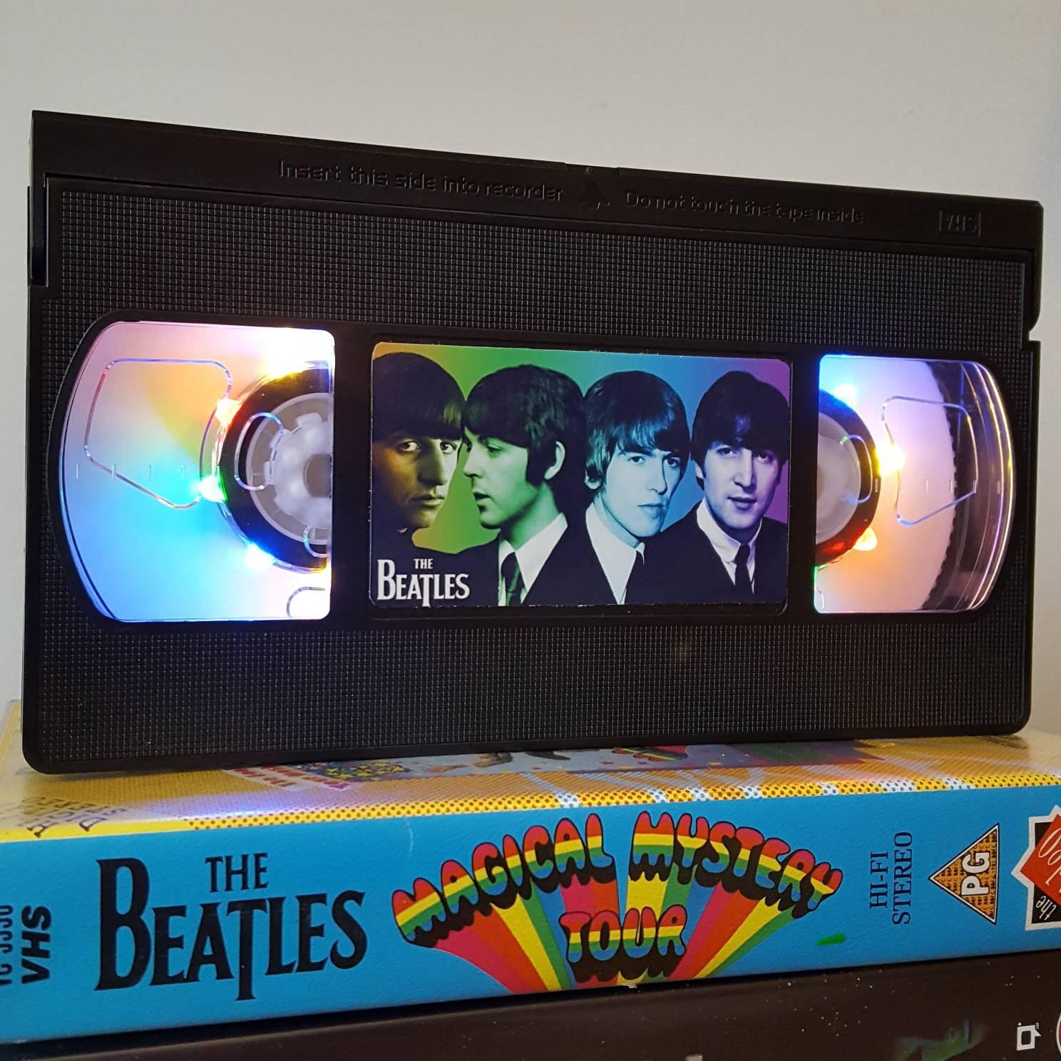 Retro Vhs Lamp Beatles Night Light Table Lamp Order Any Film