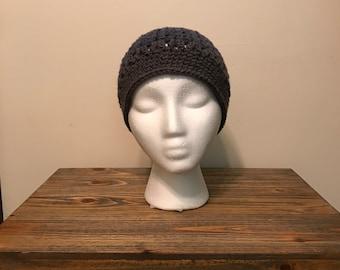 Crochet messy bun hat - cornucopia