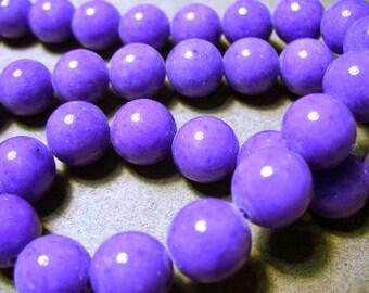 Jade Beads Gemstone Purple Round 10MM