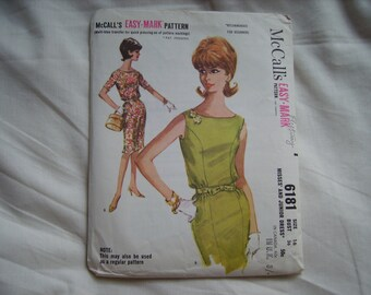Vintage Mcalls sewing/dressmaking pattern, factory folded, bust size 36 inches, suitable for beginners