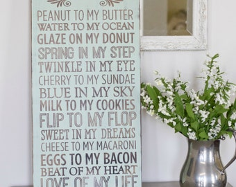 Beautiful Hand Painted Wood Sign. Rustic Home Decor. Wedding Gift. Wedding Present. Living Room. Subway Art Sign. Home Decor. Housewears.