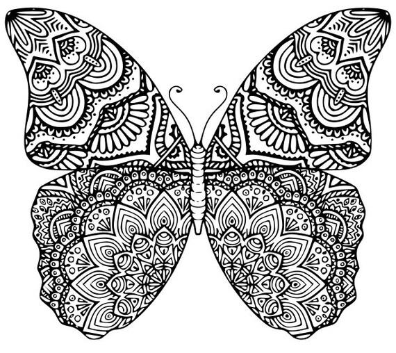 Butterfly mandala svg dxf eps - Dessin dxf gratuit ...