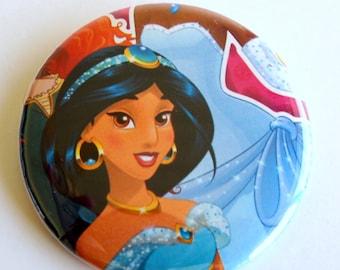 10 Upcycled Disney Princess Button - Princess Party Favor - Princess Birthday Party - Princess Jasmine Favor - Princess Jasmine Party Button