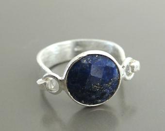 Lapis Ring - Silver Ring - Gemstone Ring - Blue Ring - Boho Ring - handmade jewelry