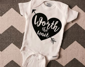 Worth the Wait onesie, baby onesie, baby shower gift, baby girl outfit, baby boy outfit, newborn onesie, baby coming home outfit