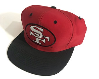 Vintage 90s 49ers Snapback Hat SF Niners Forty Niners San Francisco Logo 7 Team NFL