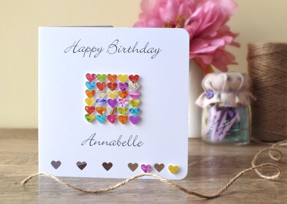 Personalised birthday card handmade personalized happy like this item bookmarktalkfo Gallery