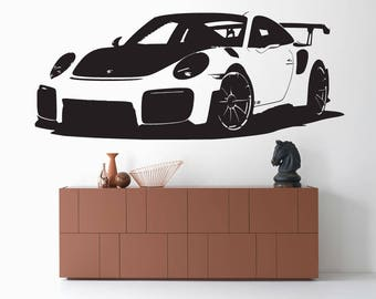 Wall stickers decals car porsche rs2 decorating walls home wall decor vinyl wall art decor vinyl interior decoration racing cars