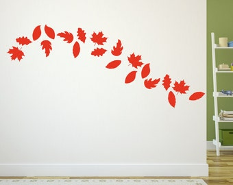 Leaves Wall Decals | Autumn Leaves | Vinyl Wall Decals | Fall Home Decor | Fall Decals | Autumn Decor | Thanksgiving Decor | 22584