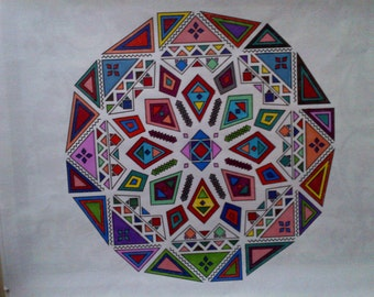 "OCD ""Artist"" Needs Your Help.  And Your Cash !!!!  Asymmetrical Mandala #1"