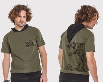 Mens tshirt with velvet print  Treebeard  ENT -psy clothing -festival-Psy clothing-psychedelic clothing-Festival Wear-Psy-Burning Man