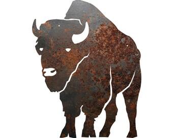 Rustic Home Decor Buffalo Silhouette Metal Sign