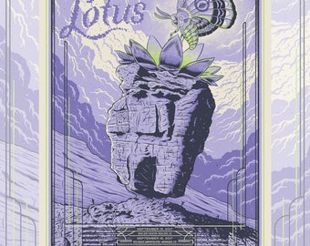 Lotus Red Rocks Screen print gig poster