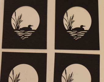 Lake Loon Card Front Diecut - Set of 4