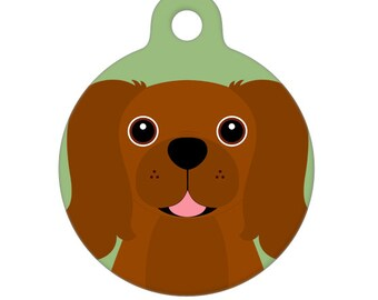 Pet ID Tag - Cavalier King Charles Spaniel - Ruby Pet Tag, Dog Tag