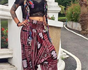 Harem pants with pockets, Boho pants, hippie pants. Amonchai