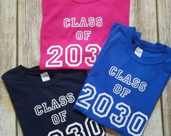 Class of 2030 Shirt, Grow with Me School Shirt, Graduation Year Shirt, First Grade, First 1st Day of School T Shirt, Kindergarten Graduation