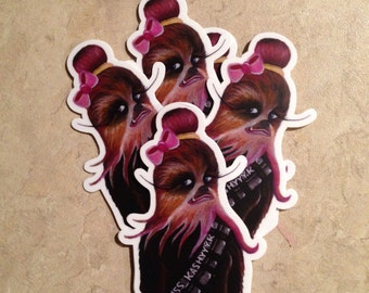 Lady Chewbacca Sticker
