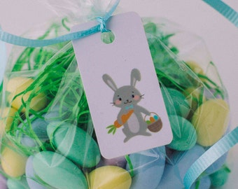 Luau thank you tags labels hawaiian thank you tags mahalo easter basket tags 3 tags personalized easter basket tag easter bunny bag tag childrens easter basket tag custom easter gift bag tag negle Image collections