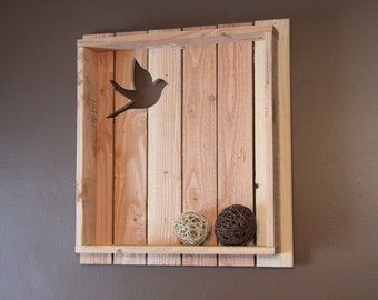 Bird Silhouette Pallet Shelf