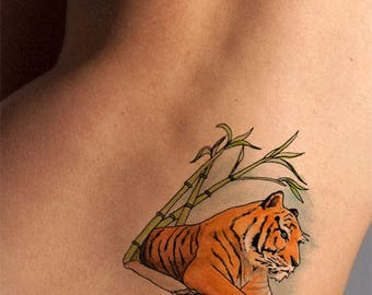 Temporary Tattoo-Regal Tiger Tattoo-Tattoo Sticker-Gifts for Women-Gifts for Men