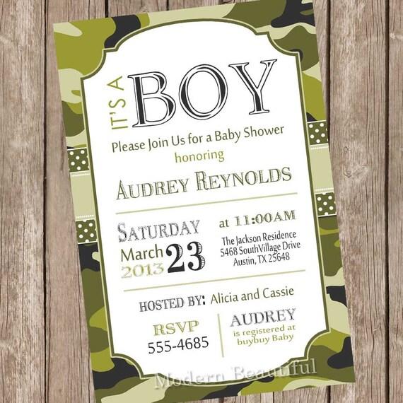 Camo baby shower invitation army baby shower invitation filmwisefo