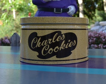 Charles Cookies Tin Canister